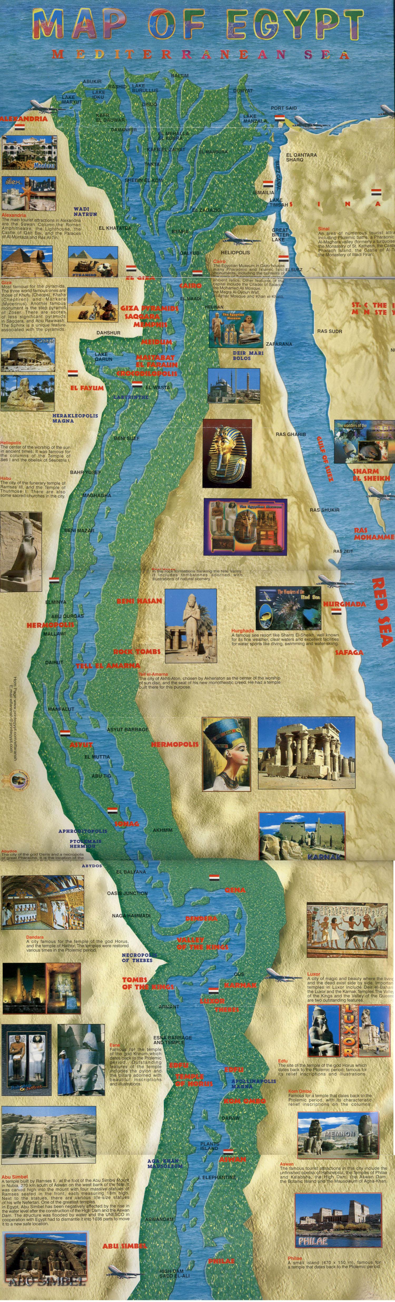Ägypten Karte Groß © by http://wwwmuhtiiide